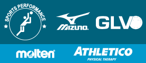 Mizuno and Great Lakes Center logos