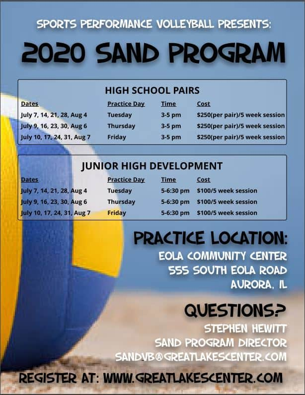 Sand Volleyball Program Great Lakes Center