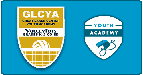 Great Lakes Center Youth Academy VolleyTots Banner