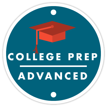 Sports Performance Volleyball - Illustration of College Prep Advanced Program Badge