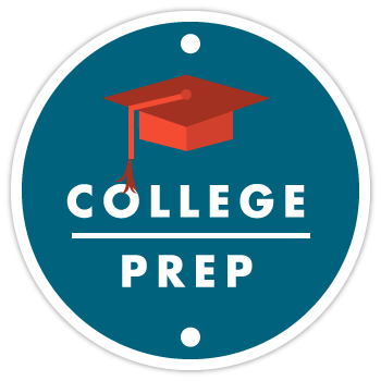 Sports Performance Volleyball - Illustration of College Prep Program Badge